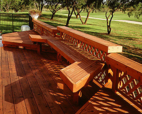 Redwood Deck and Seating