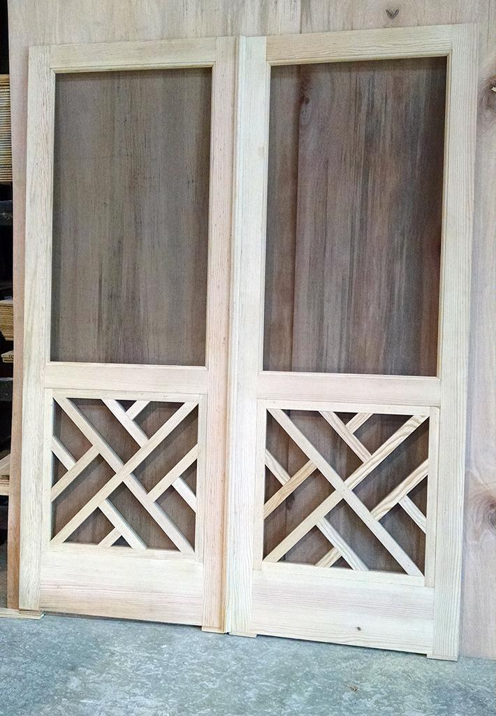 Millwork valley fir for Custom screen doors