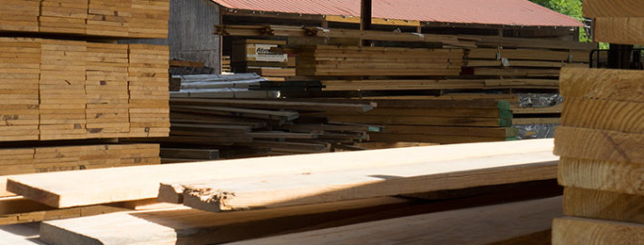 We carry a large supply of building lumber