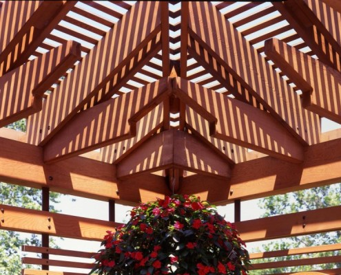 Beautiful cedar ceiling